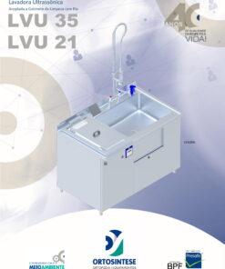 Lavadora Ultrassônica LVU 35 / LVU 21 Acoplada a Gabinete de Limpeza com Pia