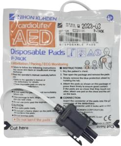 Pás descartáveis para desfibrilador Nihon Kohden P-740K